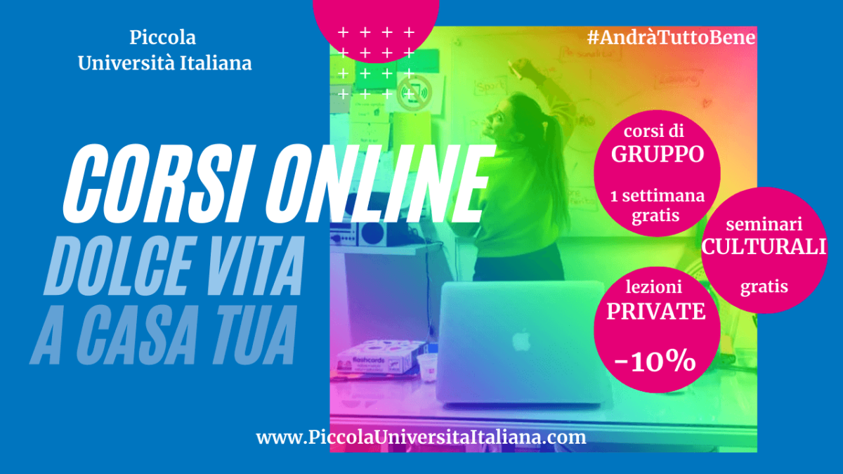 Italian Online Lessons during COVID-19 (May)