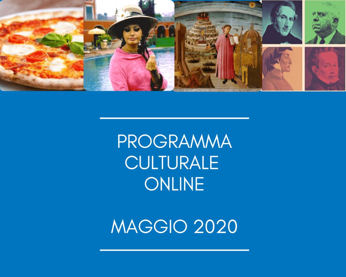 Programma Culturale Online – Maggio 2020
