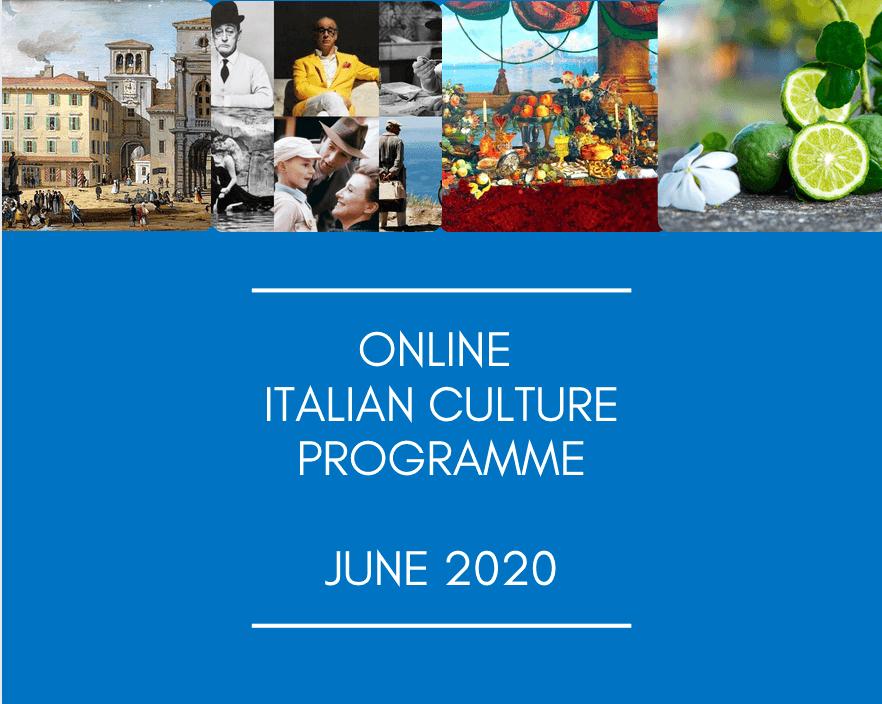 Online Italian Cultural Programme – July 2020