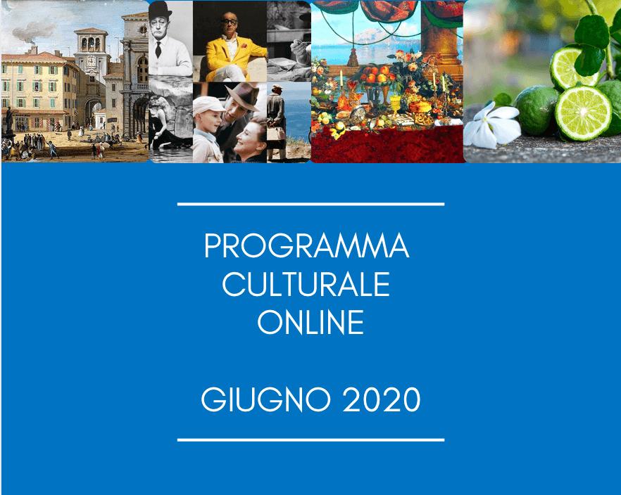 Programma Culturale Online – Giugno 2020